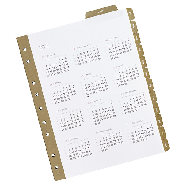 Mini SmartDate™ Monthly Tabs 2014-2015