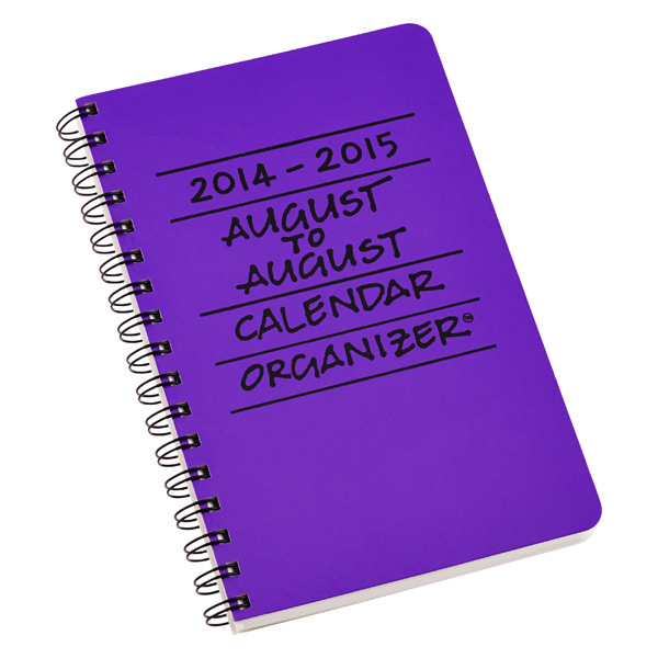 August to August Calendar Purple