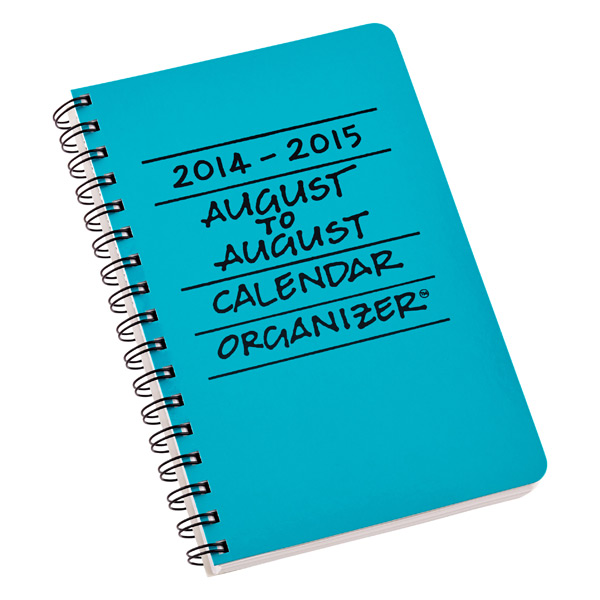 August to August Calendar Turquoise
