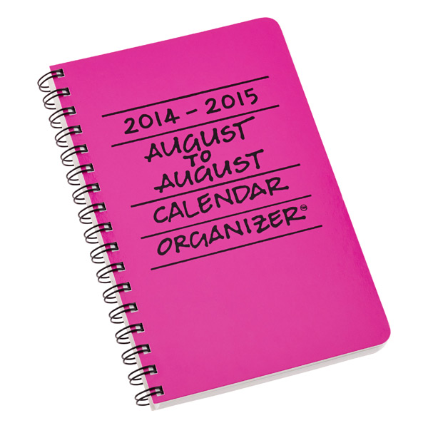 August to August Calendar Pink