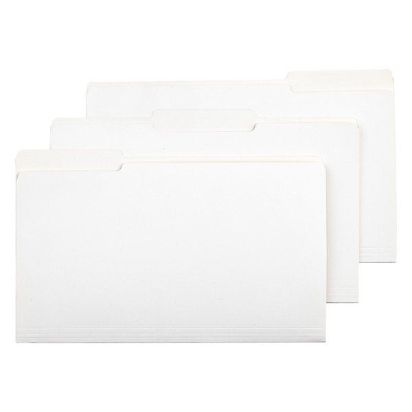 Legal-Size Interior File Folders White Pkg/6