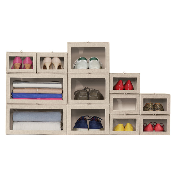 Linen Drop Front Sweater Box The Container Store