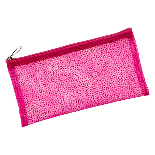 Sparkly Pencil Pouch Pink
