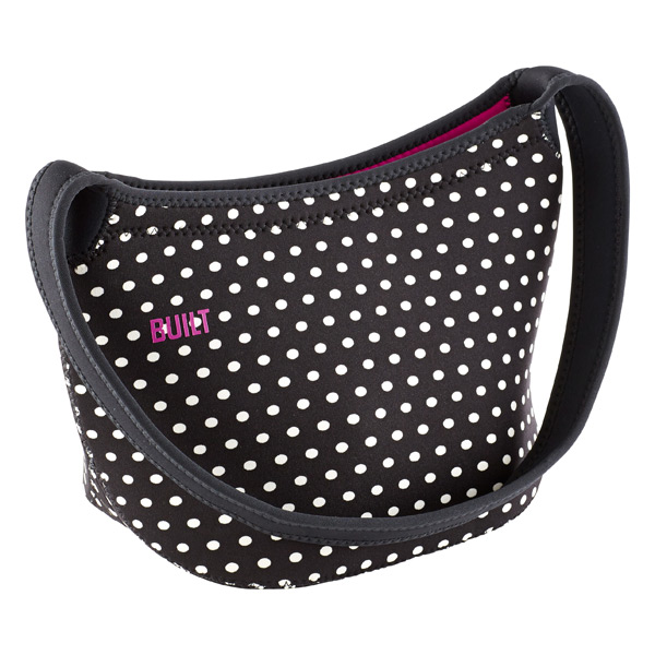 Hobo Shoulder Lunch Tote Mini Dot Black/White