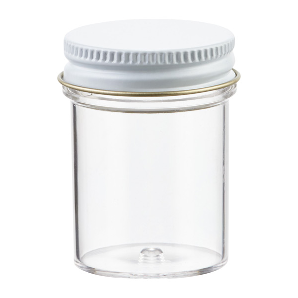 1 oz. Plastic Screw-Top Jar Clear