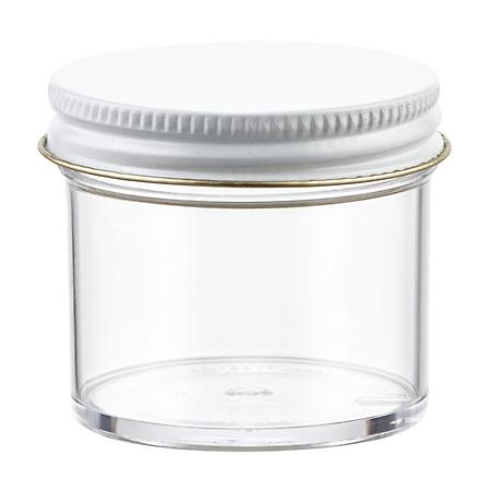 2 oz. Plastic Screw-Top Jar Clear