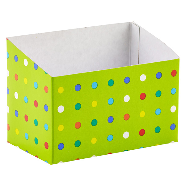 Party Dots Basket Box Lime Multi