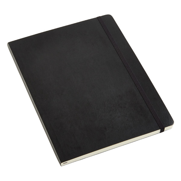 X-Large Moleskine® Soft Ruled Notebook Black