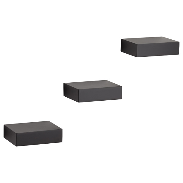 Umbra® Showcase Shelves Black Set of 3