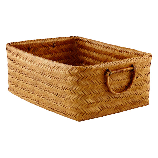 Large Double-Walled Bamboo Bin Chestnut