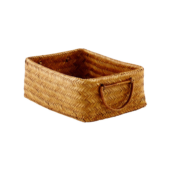 Small Double-Walled Bamboo Bin Chestnut