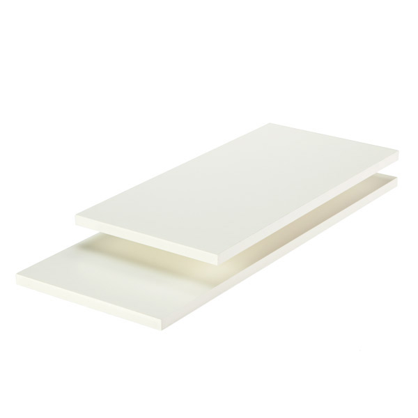 Count of 10 Melamine Shelf 14 x 36 Inches in Almond