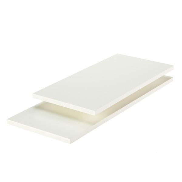 Brilliant White Melamine Shelves Beutiful Home Inspiration Ommitmahrainfo