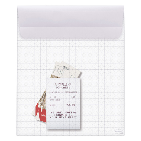 3M Large Post-it® Pocket Platinum Grey
