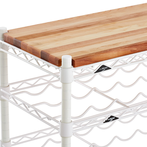 InterMetro Butcher Block Top The Container Store - Metal butcher table
