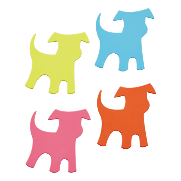 Shape-Up!™ Dog Magnets Assorted Pkg/4