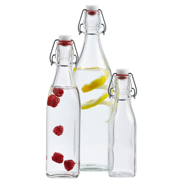 Glass Bottles Square Hermetic Glass Bottles The Container Store