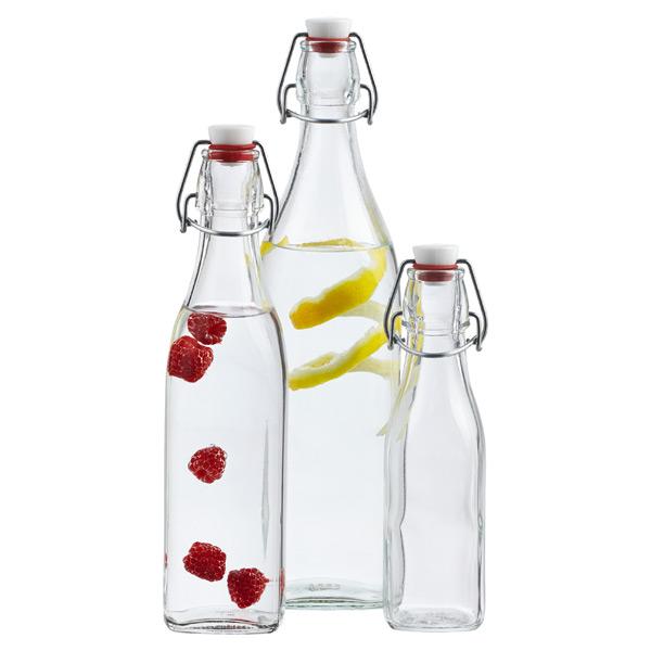 Glass Bottles Square Hermetic Glass Bottles The