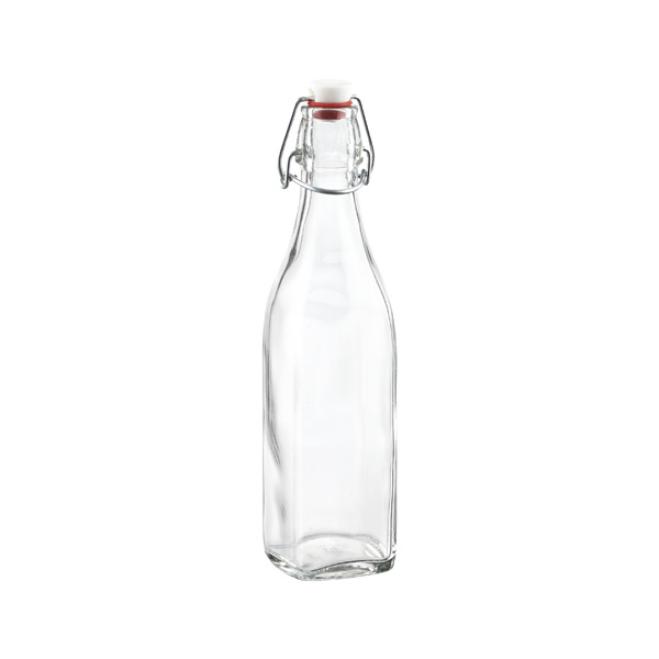 17 oz. Square Hermetic Bottle 500 ml.