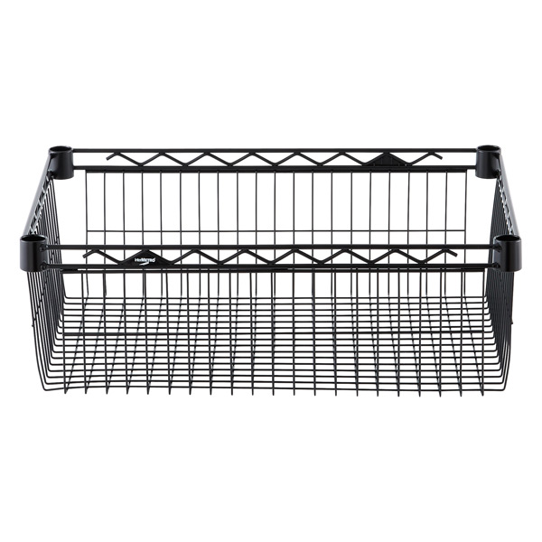 "18"" x 24"" x 8"" h InterMetro Basket Shelf Black"