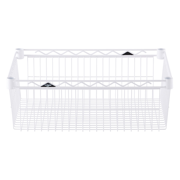 "18"" x 24"" x 8"" h InterMetro® Basket Shelf White"