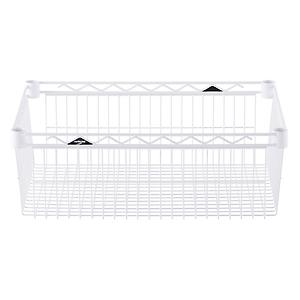 "18"" x 24"" x 8"" h InterMetro Basket Shelf White"