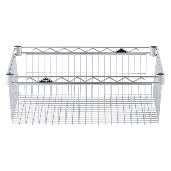 "18"" x 24"" x 8"" h InterMetro® Basket Shelf Silver"