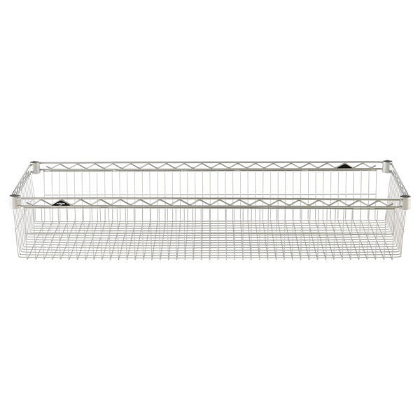 "18"" x 48"" x 8"" h InterMetro Basket Shelf Silver"