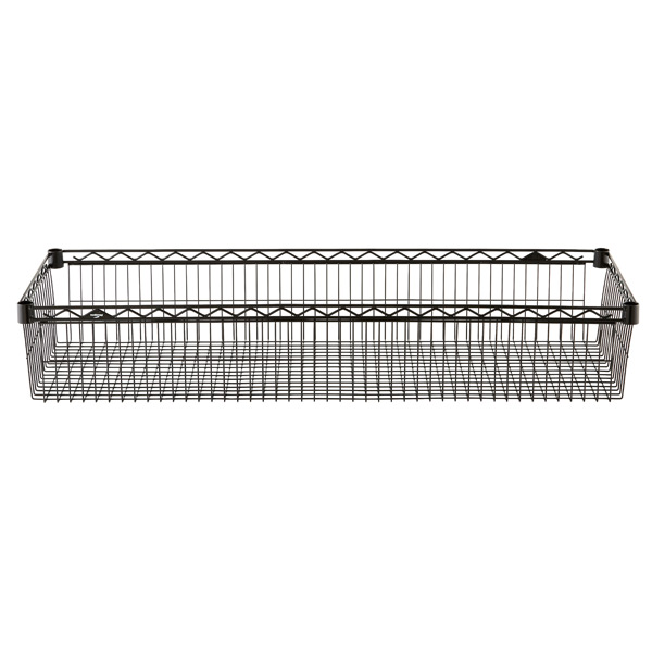 "18"" x 48"" x 8"" h InterMetro Basket Shelf Black"