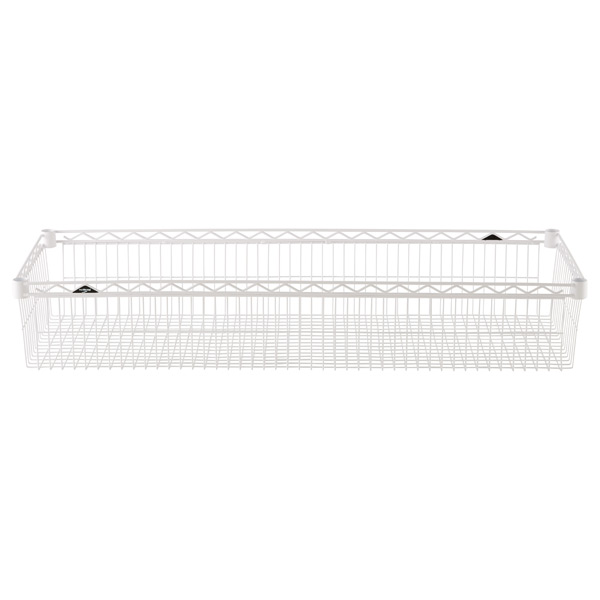 "18"" x 48"" x 8"" h InterMetro Basket Shelf White"