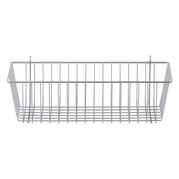 InterMetro® Storage Basket Silver