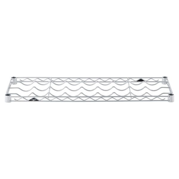 "14"" x 36"" InterMetro® Wine Shelf Silver"