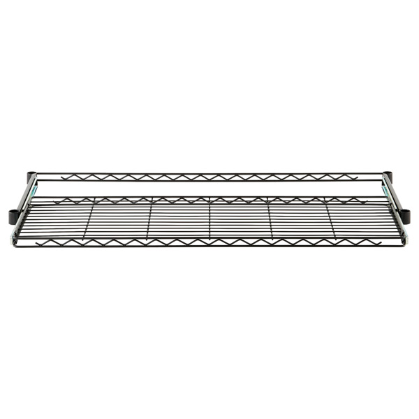 "InterMetro® 18"" x 48"" Gliding Wire Shelf Black"