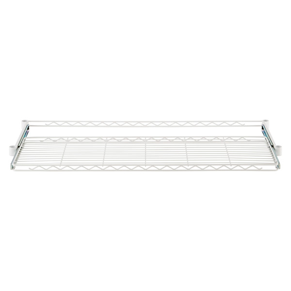 "InterMetro® 18"" x 48"" Gliding Wire Shelf White"