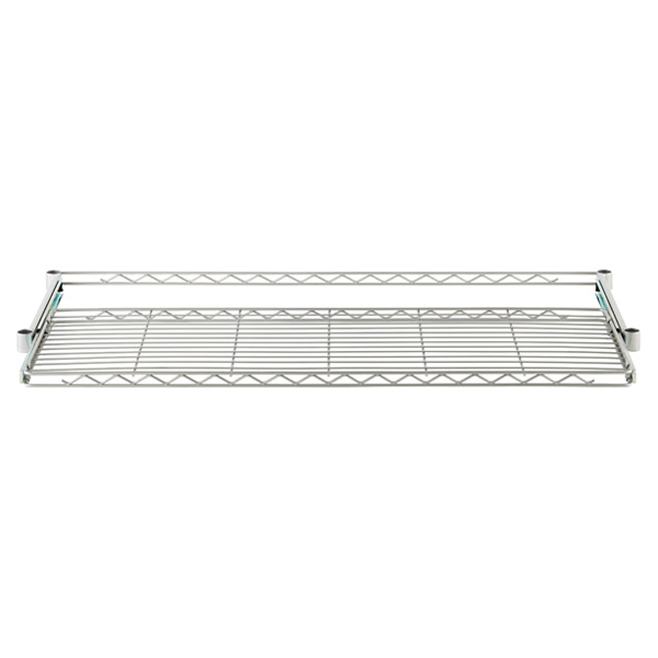 "InterMetro® 18"" x 48"" Gliding Wire Shelf Silver"