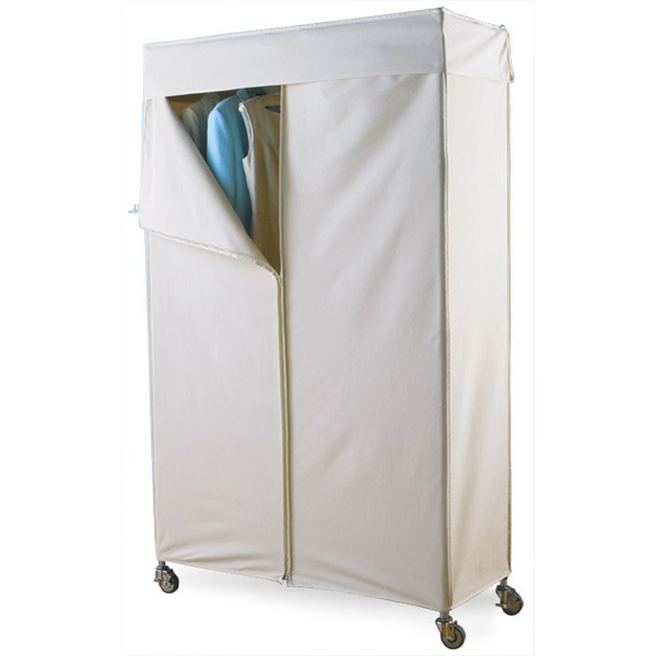 Intermetro Clothes Rack With Cotton Canvas Cover The Container Store
