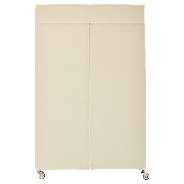 Intermetro Clothes Rack With Cotton Canvas Cover The