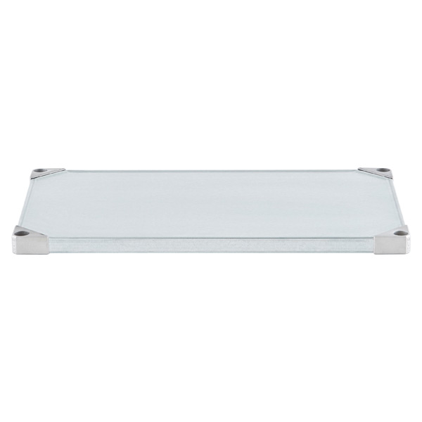 "18"" x 30"" Metro® Commercial Galvanized Solid Shelf"
