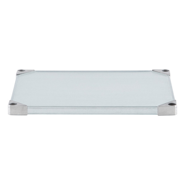 "18"" x 24"" Metro® Commercial Galvanized Solid Shelf"