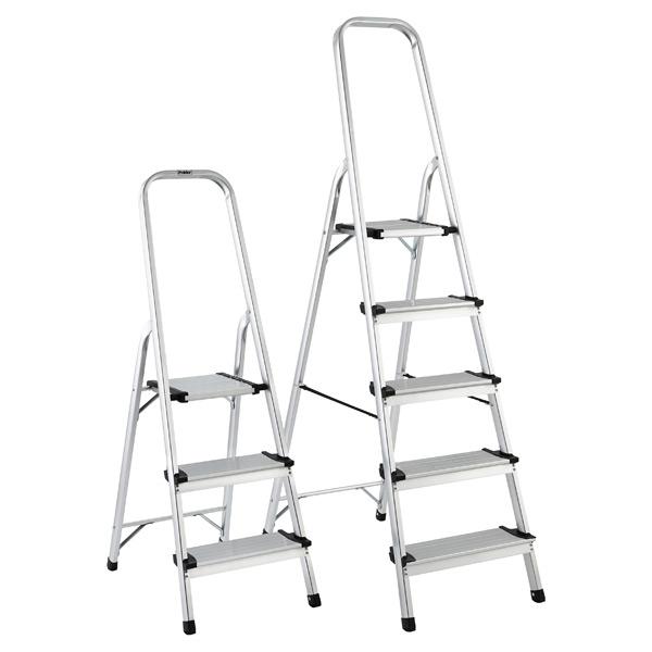 Peachy Polder 3 5 Step Aluminum Folding Ladders Machost Co Dining Chair Design Ideas Machostcouk