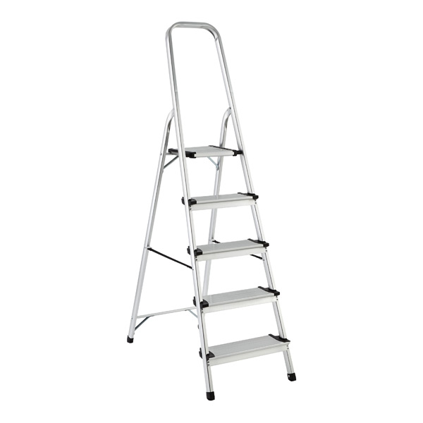 Step Ladder 3 Amp 5 Step Aluminum Ladders The Container