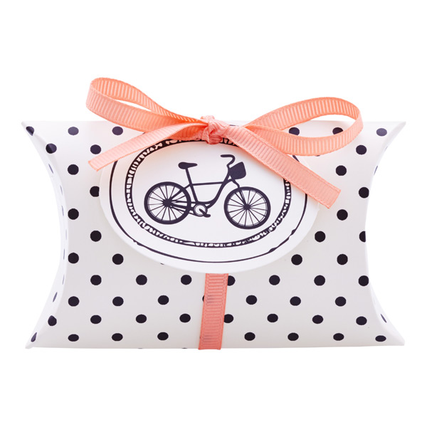 Gift Card Pouch Dots Cream/Black