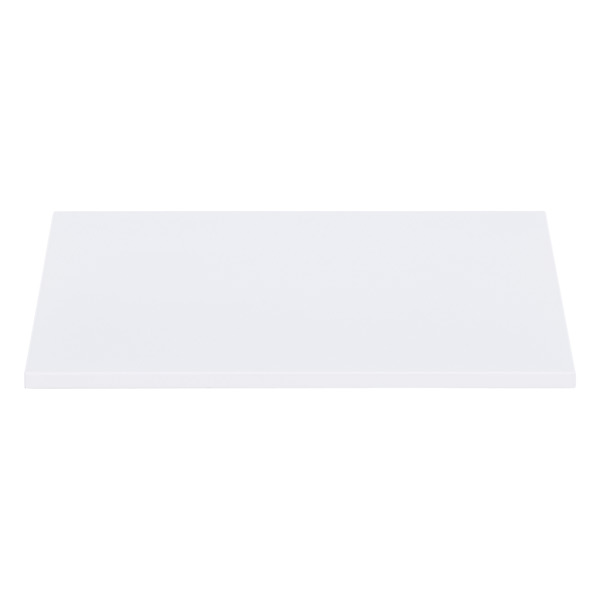 QBO® Solid Steel Shelf Enameled White
