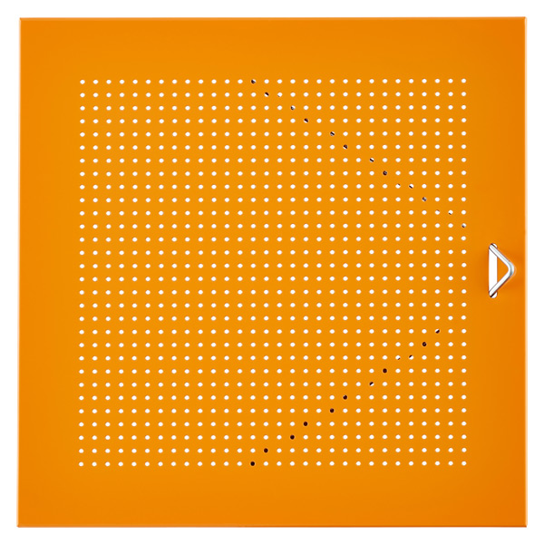 QBO® Perforated Steel Door Enameled Orange