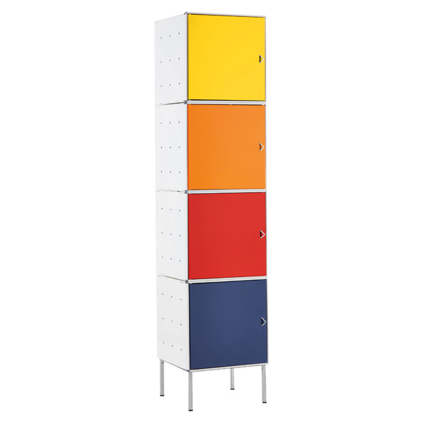 QBO® Steel Cube Tower White w/Multi Color