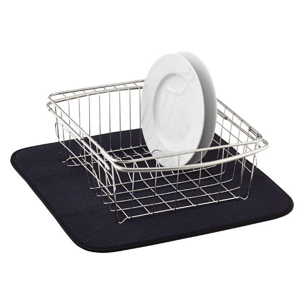 black dish drying mat the container store rh containerstore com kitchen dish drying pad kitchen basics dish drying mat