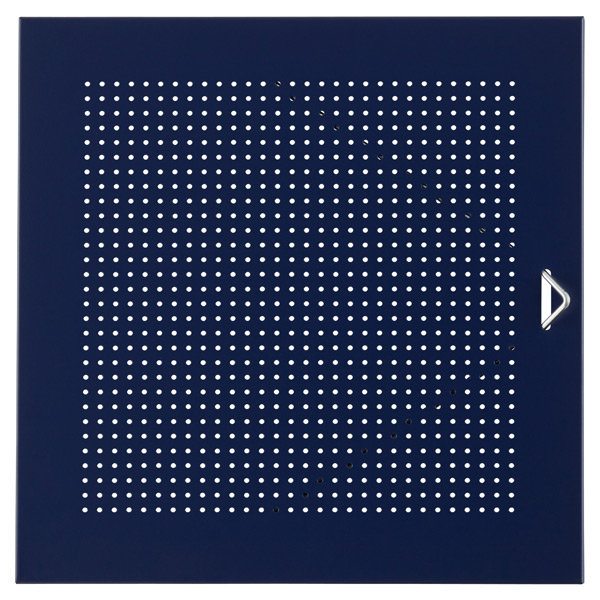QBO® Perforated Steel Door Enameled Blue