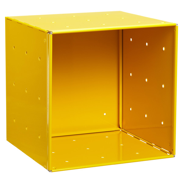 Yellow Enameled QBO® Steel Cube