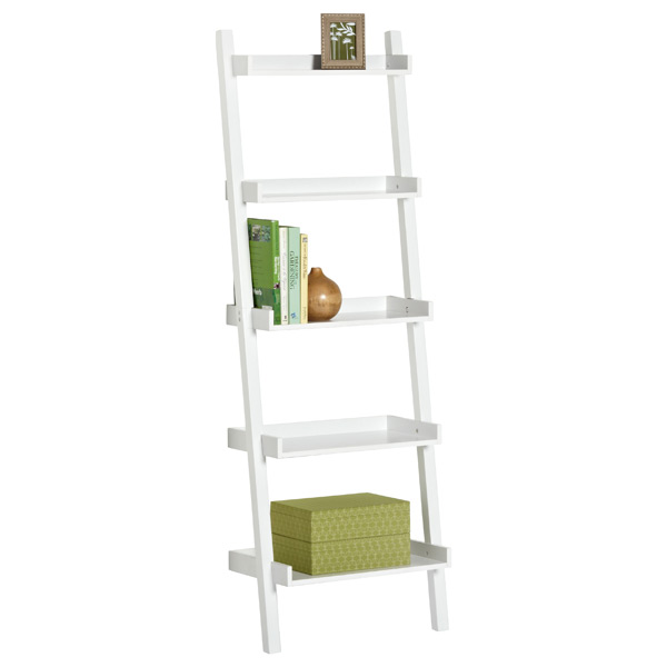 White Linea Ladder Shelf - White Linea Ladder Shelf The Container Store