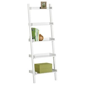 Linea Leaning Bookcase White